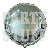Фольгированный шарик круглый Серебряный, 44 см