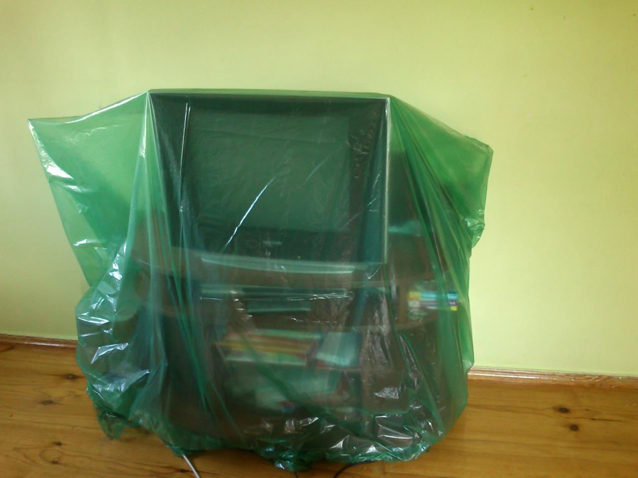 Пленка зеленаяя строительная для укрытия и защиты мебели во время ремонта, 3 м ширина, 30 мкм толщина