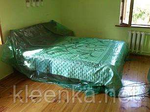 Пленка зеленаяя строительная для укрытия и защиты мебели во время ремонта, 3 м ширина, 30 мкм толщина, фото 3