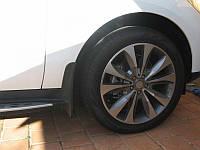 Брызговики Mercedes-Benz ML166 (с порогами) с 2011- (A1668900478), 2шт