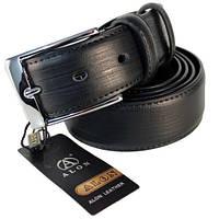 Ремень кожаный мужской Alon батальный черный (E350456)