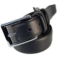 Ремень кожаный мужской Alon батальный черный (E350454)