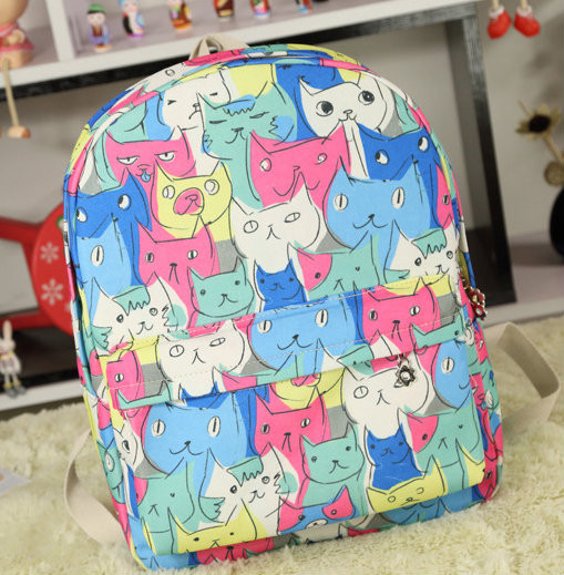 Молодежный рюкзак с котиками
