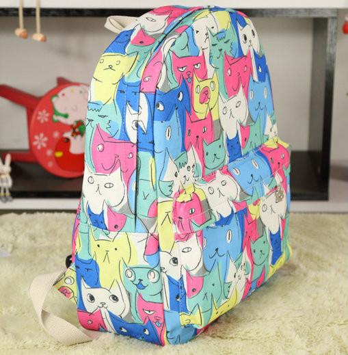 рюкзак для девочки с котиками