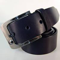 Ремень кожаный мужской JK тёмно-синий (2973)