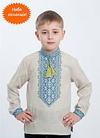 Украинская вышиванка с 100% льна для мальчика