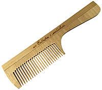 Расчески деревянные для волос ИЗ СИБИРИ С ЛЮБОВЬЮ (195mm / 23 зубьев) с ручкой