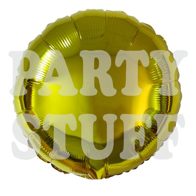 круглий фольгований куля золотий