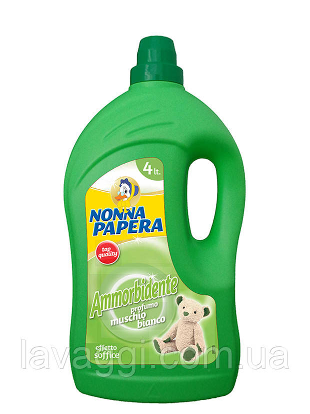 Кондиционер-ополаскиватель Nonna Papera Ammorbidente Muschio Bianco 4L