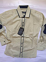 Рубашка приталенная для мальчиков   7-12 лет