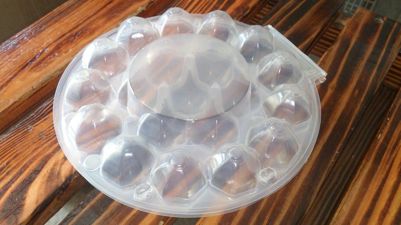 Упаковка для перепелиних яєць блістер круглий на 20 шт