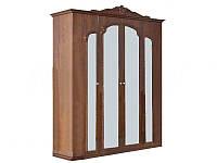 Шкаф 4Д Империя орех лак (Світ Меблів TM)