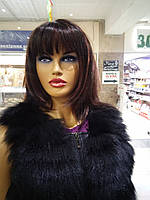 Модная жилетка женская из натурального меха песца