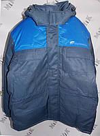 Куртка зимняя утепленная с капюшоном, с логотипом