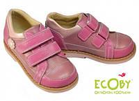 Профилактические туфли для девочки розовые Ecoby