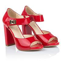 Красные лаковые босоножки Mainila (элегантные, оригинальные, изысканные, стильные, модные)