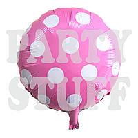 Фольгированный шар Полька светло-розовый, 44 см