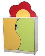 """Стенка детская """"Цветная поляна"""" №5 с дверями (28512)"""