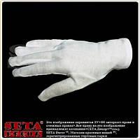 Белые перчатки короткие хлопчатобумажные мужские