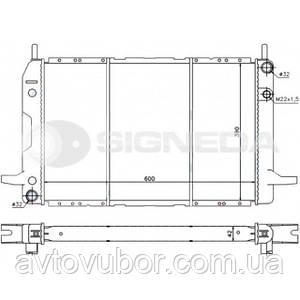 Радиатор основной Ford Scorpio 85-92 RA62211Q 1630715