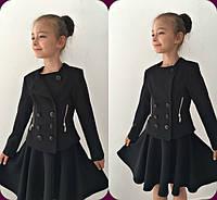 Пиджак детский, ткань мадонна, цвет черный и синий ,супер качество мм № 640