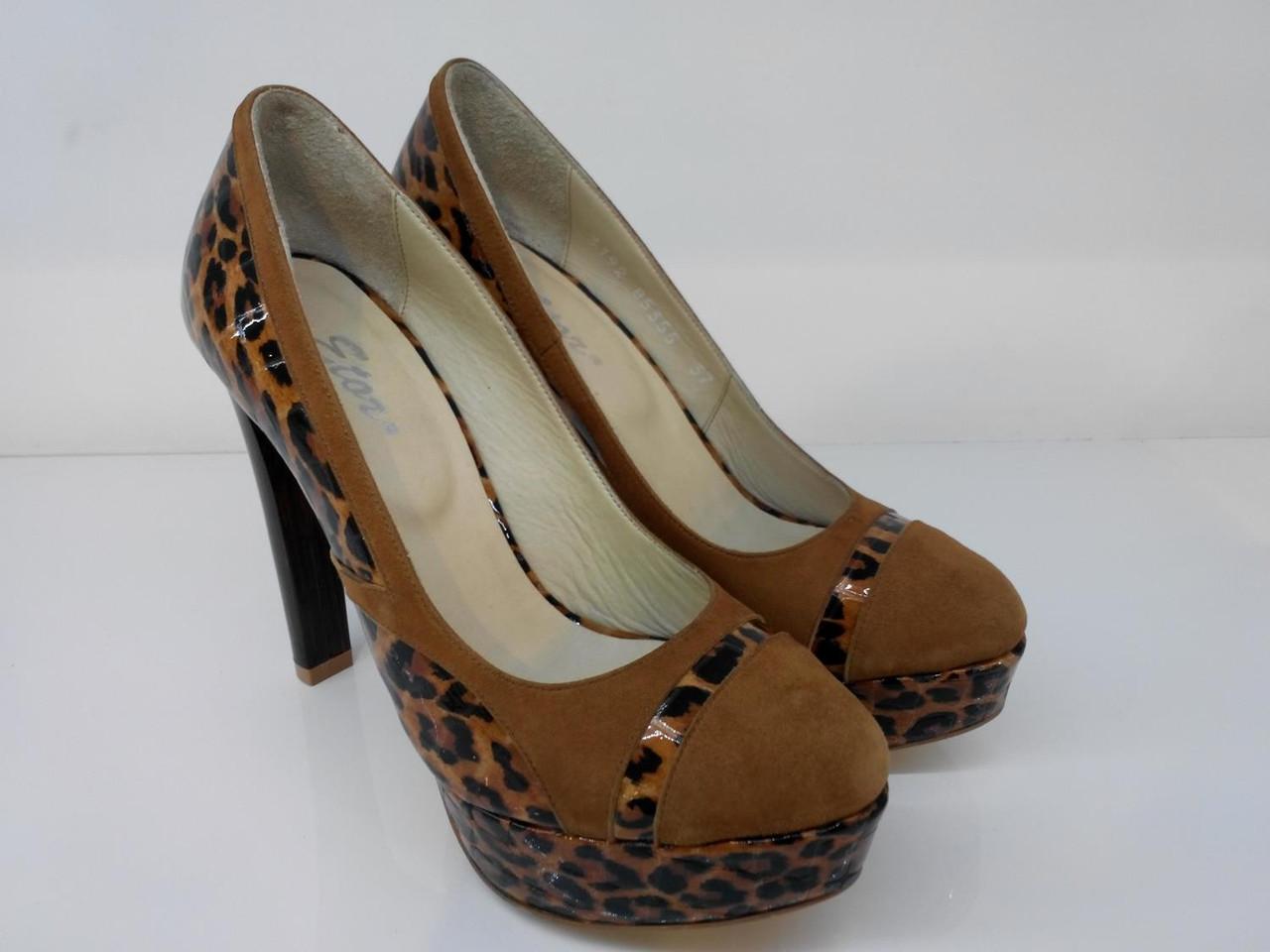 Туфлі Etor 3192 37 коричневі