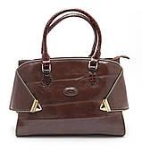 Стильная коричневая женская сумка на молнии Б/Н art. M-05