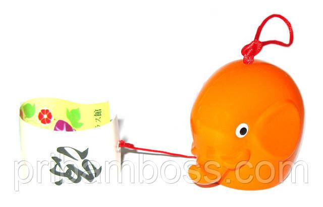 """Колокольчик """"Слоник"""", оранжевый"""