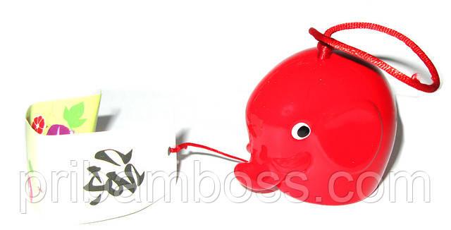 """Олокольчик """"Слоник"""", красный"""