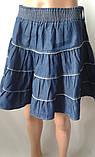 Однотонные летние юбки из коттона, фото 2