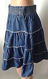 Однотонные летние юбки из коттона, фото 3