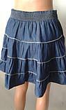 Однотонные летние юбки из коттона, фото 4
