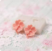 Силиконовый молд на 2 цветка, для полимерной глины