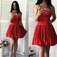 Нарядное женское платье с плиссировкой и пышной юбкой, разные цвета