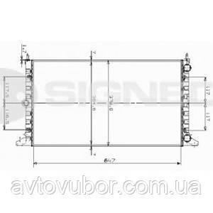 Радиатор основной Ford Galaxy 95-00 RA63991 7258107
