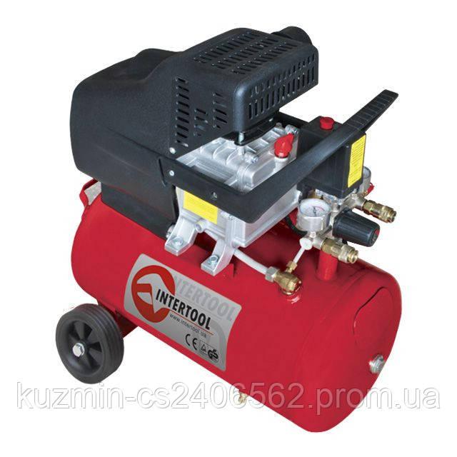 Компрессор воздуха 24л 2HP 1.5кВт 220В 8атм 206л/мин INTERTOOL PT-0009