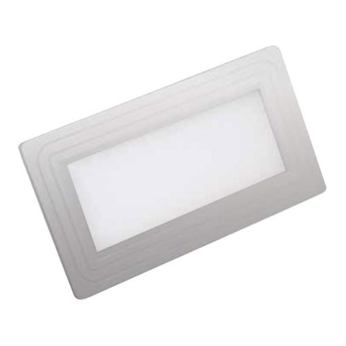 Светодиодный светильник Horoz (HL690L) 12W 3000K прямоугольник мат.хром (потолочный) Код.57138