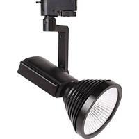 Светодиодный трековый светильник Horoz HL824L 12W черный Код.57123