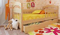 Кровать подростковая Селеста Экстра Woodland с защитным бортиком натуральное дерево