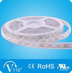 Холодно-біла 14,4W SMD5050 (60 LED/м) (cw) 12500-14500 Waterproof IP68 Premium