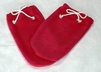 Набор (варежки+носочки) флис Малиновый