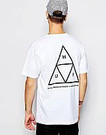 Футболка скейтерская HUF треугольник., фото 1