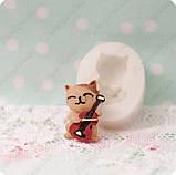 Силиконовый молд на котенка, для полимерной глины, фото 2