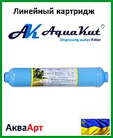 Картридж бактерицидный постфильтр кокосовый уголь активированный серебром T-33 T3