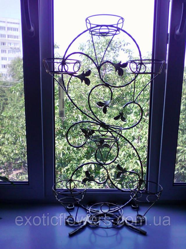 Узор вертикальный на 7 чаш. подставка для цветов