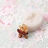 Силиконовый молд на мини-мишку, для полимерной глины, фото 2