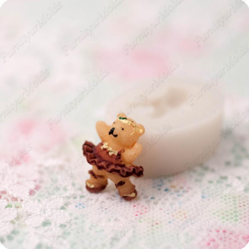 Силиконовый молд на мини-мишку, для полимерной глины