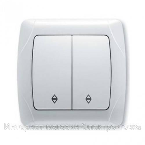 Двухклавишный проходной выключатель viko carmen (белый)