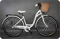 """Велосипед Goetze STYLE - 28"""" 3-передачи + фара и корзина в подарок  ( черный, белый)"""