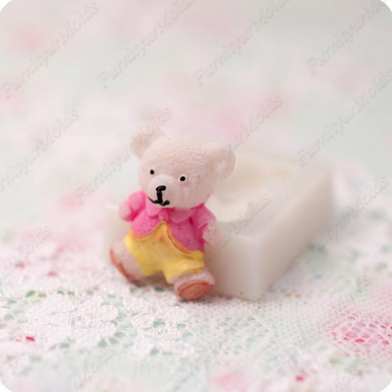 Силиконовый молд на медвежонка, для полимерной глины